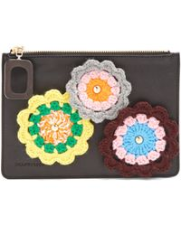 JW Anderson - Daisies Crochet Leather Pouch - Lyst