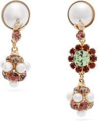 Erdem - Crystal Embellished Mismatched Earrings - Lyst