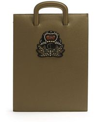 Christian Louboutin - Trictrac Large Embellished Leather Document Holder - Lyst