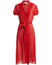 Adriana Degreas - X Charlotte Olympia Pin Up Silk Georgette Dress - Lyst