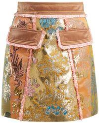 Peter Pilotto - A Line Floral Brocade Mini Skirt - Lyst