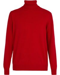 President's - Washed Wool Roll Neck Jumper - Lyst