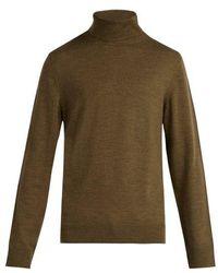A.P.C. - Marcelino Merino Wool Roll-neck Jumper - Lyst