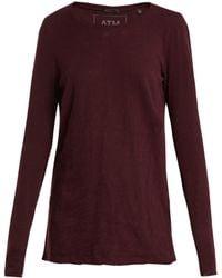 ATM - Destroyed Cotton Slub-jersey T-shirt - Lyst