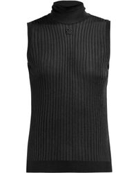 Givenchy - Roll Neck Stretch Knit Top - Lyst
