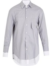Wooyoungmi | Double-layered Striped Cotton-blend Shirt | Lyst