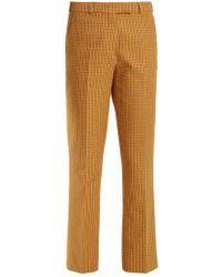Etro - Violante Geometric-pattern Stretch-cotton Trousers - Lyst