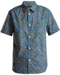 A.P.C. - Short Sleeved Floral Shirt - Lyst