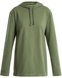 Acne Studios - Lily Cotton-jersey Hooded Sweatshirt - Lyst