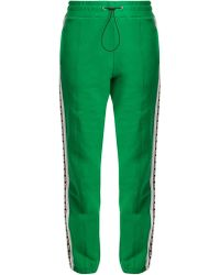 MSGM - Logo-print Cotton Track Pants - Lyst