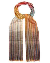 Paul Smith - Signature Stripe Wool Scarf - Lyst