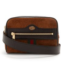 0017ad884f13 Gucci Ophidia Small Suede Belt Bag - Lyst