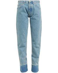 Loewe - Faded Wash Denim Jeans - Lyst