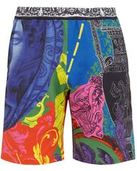 Versace - Magna Grecia Print Shorts - Lyst