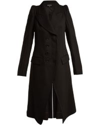 Ann Demeulemeester - Priestley exaggerated-shoulder Wool Coat - Lyst