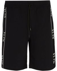 Valentino - Logo-intarsia Shorts - Lyst