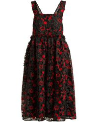 Shrimps - Lucia Floral-embroidered Organza Dress - Lyst