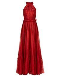 Maria Lucia Hohan - Zyna Matte-silk Halterneck Gown - Lyst
