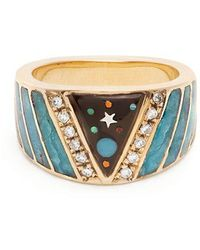 Jacquie Aiche - Diamond, Opal & Yellow-gold Ring - Lyst