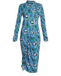 Marni - Drawstring-detail Midi Dress - Lyst