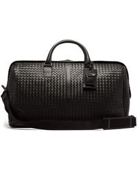 Bottega Veneta - - Intrecciato Leather Holdall - Mens - Black - Lyst