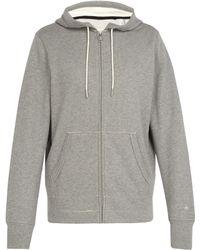 Rag & Bone - Sweat-shirt zippé en coton à capuche - Lyst