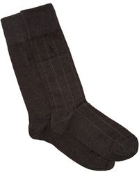 Polo Ralph Lauren - Pack Of Two Logo Embroidered Cotton Blend Socks - Lyst