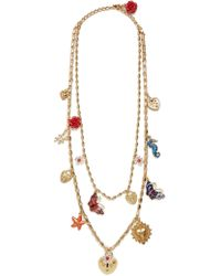Dolce & Gabbana - Charm-embellished Double-chain Necklace - Lyst