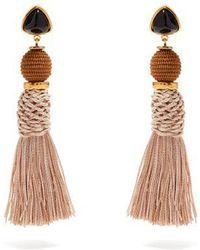 Lizzie Fortunato - Modern Craft Gold-plated Tassel Earrings - Lyst