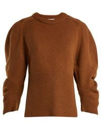 Chloé - Iconic Puff-sleeve Cashmere Jumper - Lyst