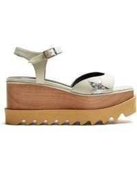Stella McCartney - Elyse Faux-leather Platform Sandals - Lyst
