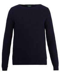 Zanone - Crew-neck Honeycomb-knit Cotton Jumper - Lyst