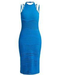 Esteban Cortazar - Sleeveless Crochet-knit Cotton-blend Dress - Lyst