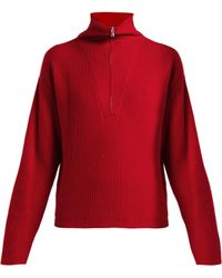 Allude - Half Zip Ribbed Cashmere Jumper - Lyst