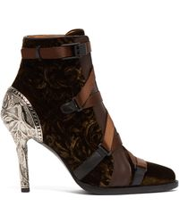 Chloé - Tracy Velvet Ankle Boots - Lyst