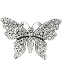 Gucci | Crystal-embellished Butterfly Brooch | Lyst