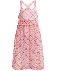 Shrimps - Viola Embroidered Cotton-blend Organza Dress - Lyst