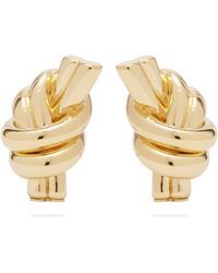 JW Anderson - Knot Gold Plated Brass Earrings - Lyst