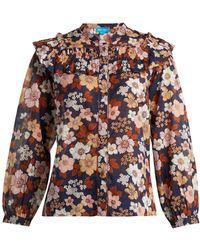 M.i.h Jeans - Hayden Floral Print Cotton Blouse - Lyst