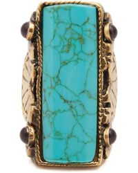 Etro - Engraved Stone-embellished Ring - Lyst