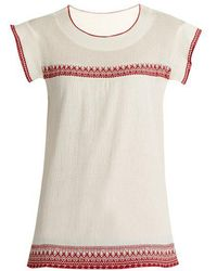 The Great - The Needle Point Embroidered Top - Lyst