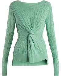 Sies Marjan - Zoe Decorative-knot Cable-knit Cotton Jumper - Lyst
