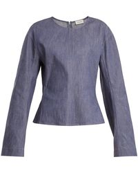 Lemaire | Long-sleeved Denim Top | Lyst