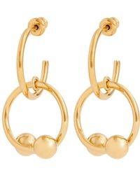 J.W.Anderson - Double-sphere Gold-plated Hoop-drop Earrings - Lyst