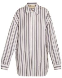 Awake - Oversized Striped Cotton Shirtdress - Lyst