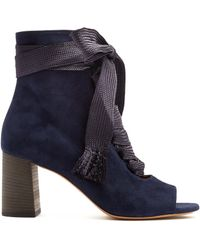 Chloé | Harper Lace-up Suede Ankle Boots | Lyst