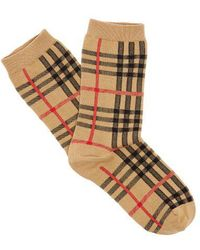 Burberry - Vintage Check Cotton-blend Socks - Lyst