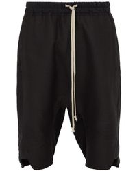Rick Owens - Basket Swinger Cotton Silk Shorts - Lyst