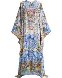 Camilla - Geisha Gateways Printed Silk Kaftan - Lyst