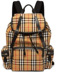 Burberry - Vintage Check Cotton Blend Backpack - Lyst